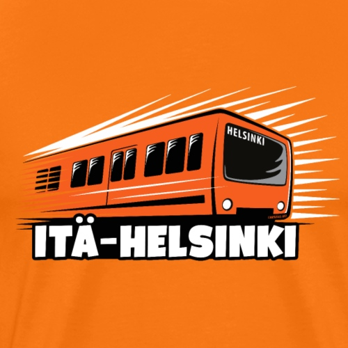 METRO ITÄ-HELSINKI T-paidat, Hupparit, lahjat ym. - Miesten premium t-paita