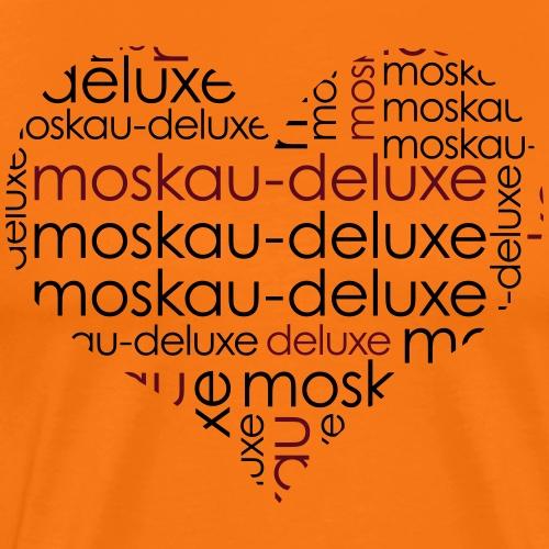 Moskau Deluxe Herz Motiv - Männer Premium T-Shirt