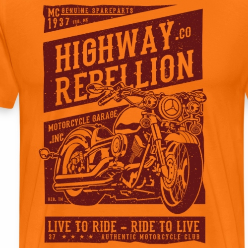Highway Rebellion - Männer Premium T-Shirt