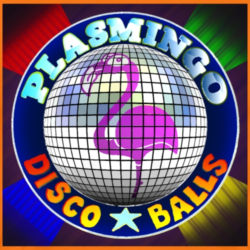 Plasmingo - Disco Balls Cover Art - Premium-T-shirt herr