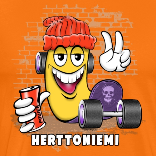 HERTTONIEMI SKATE 1 - Skateboard Helsinki - Miesten premium t-paita