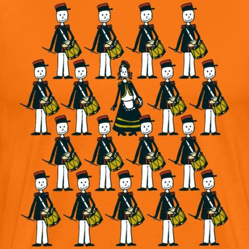 marcheurs cantinière et tambours - T-shirt Premium Homme