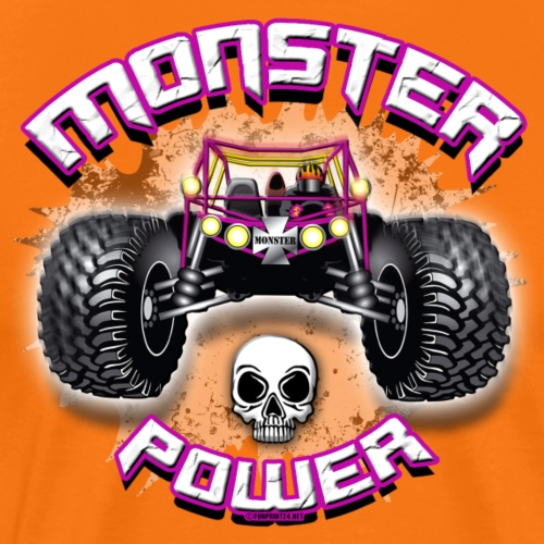 MONSTER POWER TRUCK Cool Textiles - gift products - Miesten premium t-paita