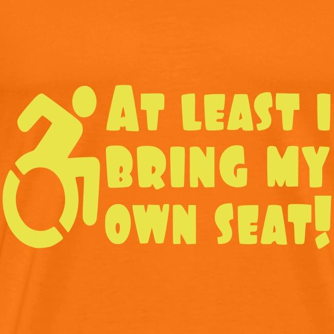 > Ik breng tenminste mijn eigen rolstoel mee