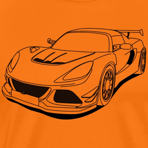 cool car outlines - Men's Premium T-Shirt