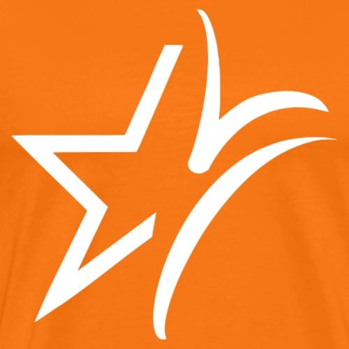 Logo wit - Mannen Premium T-shirt