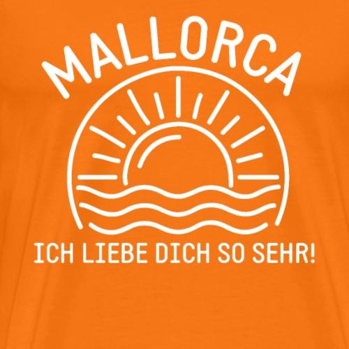 Mallorca Liebe - Das Design für echte Mallorcafans - Männer Premium T-Shirt