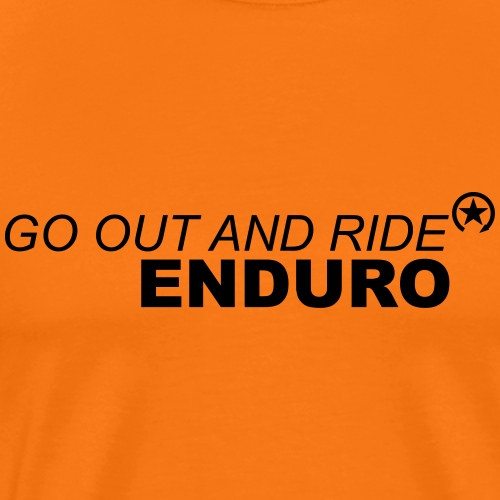 go out and ride enduro bk - Men's Premium T-Shirt