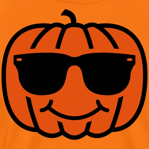 Pumpkin with Sunglasses - Men's Premium T-Shirt