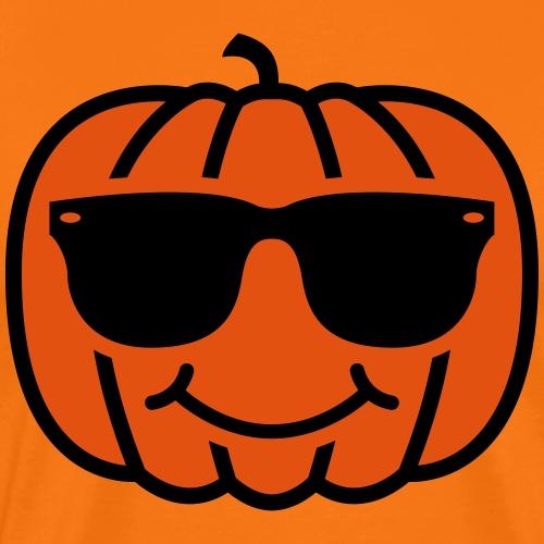 Pumpkin with Sunglasses - Men's Premium T-Shirt