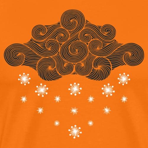 nuage noir et flocons blanc vacances d'hiver - T-shirt Premium Homme