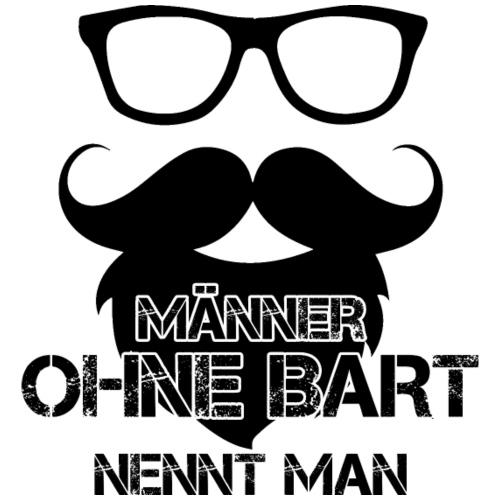 Maenner OHNE BART schwarz - Männer Premium T-Shirt