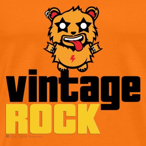 4 VINTAGE ROCK VERT - Maglietta Premium da uomo