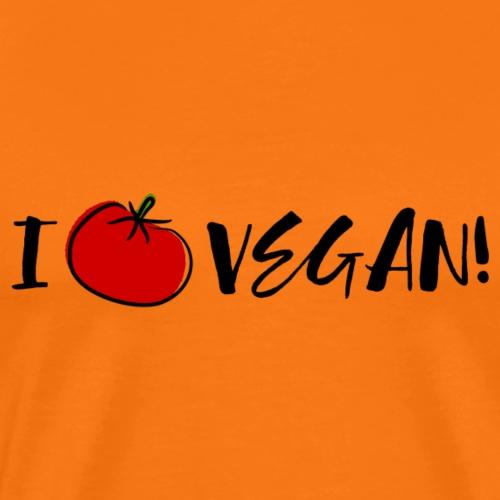 I love vegan (black) - Männer Premium T-Shirt