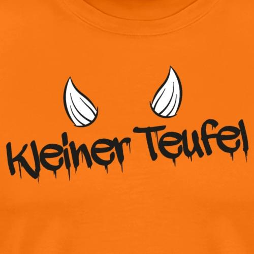 Kleiner Teufel - Schriftzug mit Hörnern - Männer Premium T-Shirt