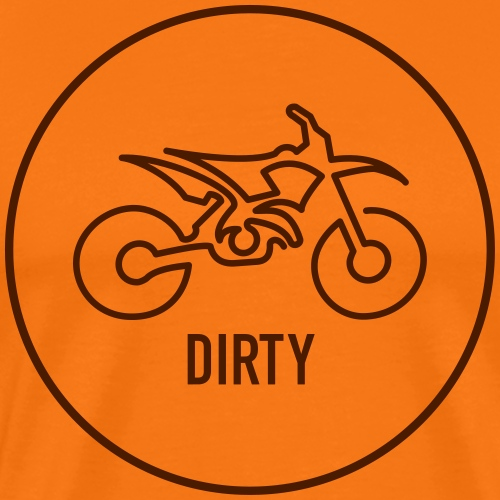 »One Line« Motorcycle - »DIRTY« - Männer Premium T-Shirt
