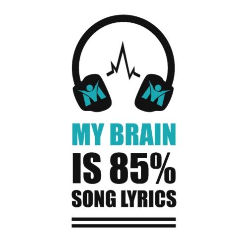 RM - My brain is 85 per cent song lyrics - Black - Men's Premium T-Shirt