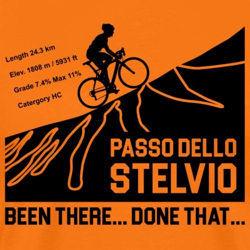Passo Dello Stelvio Cycling Design - Men's Premium T-Shirt
