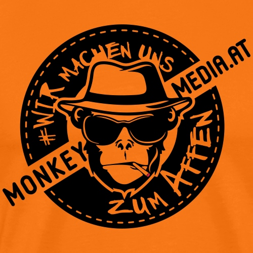 Vintage Monkey2 - Männer Premium T-Shirt