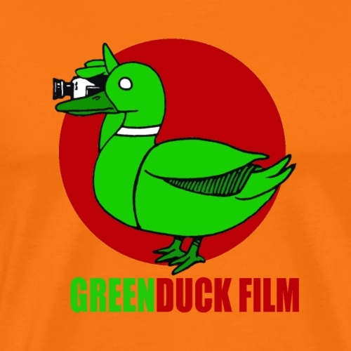 Greenduck Film Red Sun Logo - Herre premium T-shirt