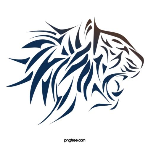 tiger vector - Camiseta premium hombre