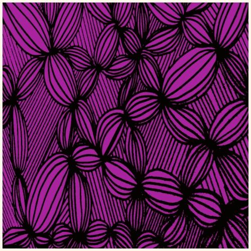 Linee curve in viola - Maglietta Premium da uomo