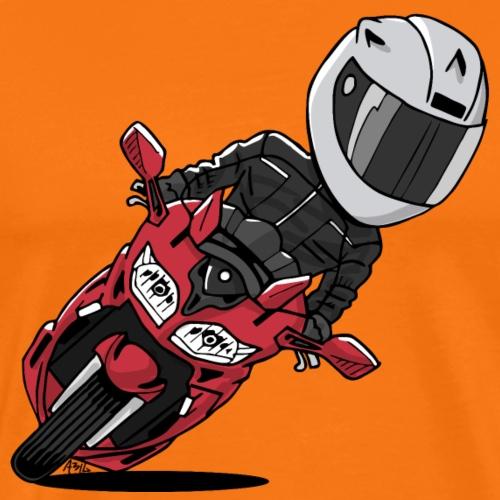 0791 FJR LavaRed - Mannen Premium T-shirt