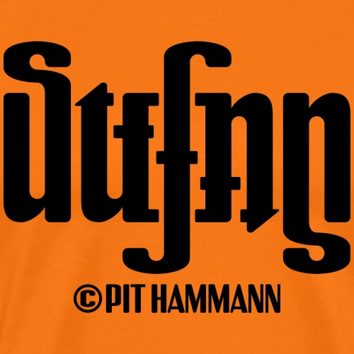 Ambigramm Stefan 01 Pit Hammann - Männer Premium T-Shirt