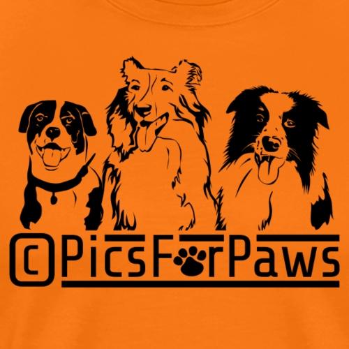 Pics For Paws Logo - Men's Premium T-Shirt