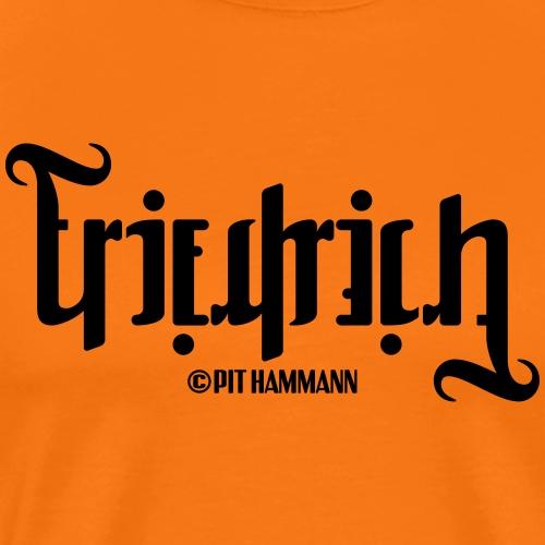 Ambigramm Friedrich 01 Pit Hammann - Männer Premium T-Shirt