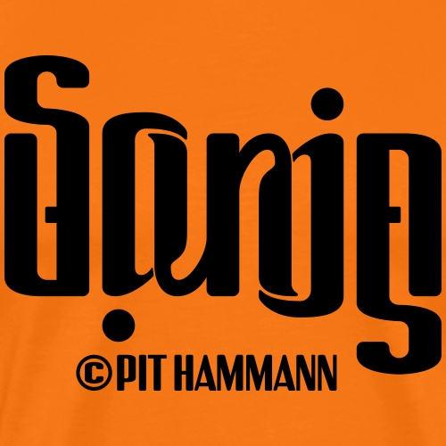 Ambigramm Sonja 01 Pit Hammann - Männer Premium T-Shirt