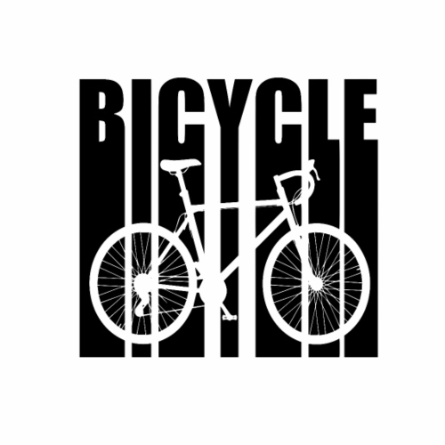bicycle outline - Mannen Premium T-shirt