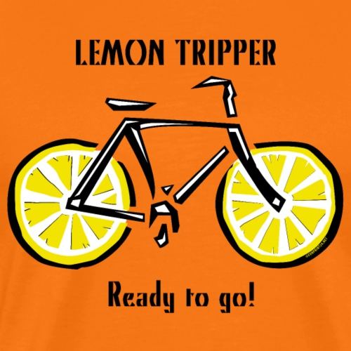 LEMON TRIPPER BICYCLE Textiles and Gifts Products - Miesten premium t-paita