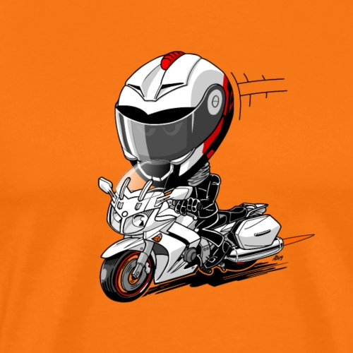 FJR wit - Mannen Premium T-shirt