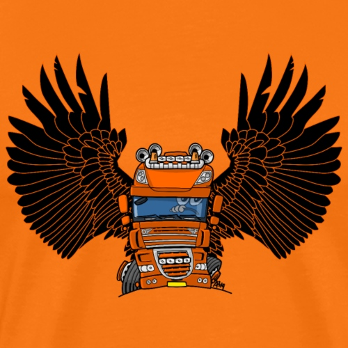 0793 D truck wings oranje - Mannen Premium T-shirt