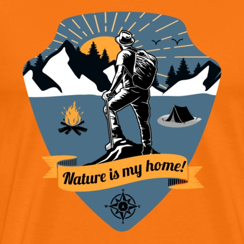 Wandern T-Shirt Nature is my home