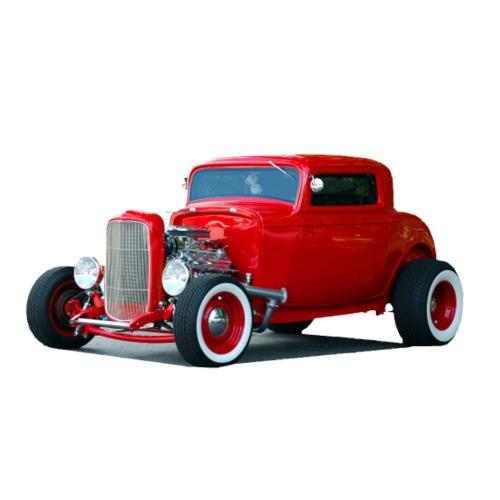 Hot rod red car - Mannen Premium T-shirt