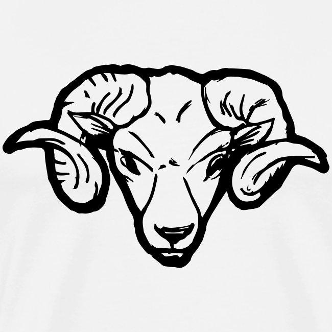 Widderkopf Outline Lustig Schaf Hörner Geschenk