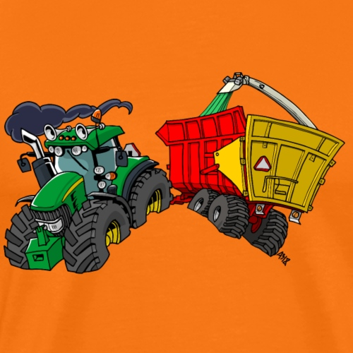 Groene trekker met Haksel - Mannen Premium T-shirt