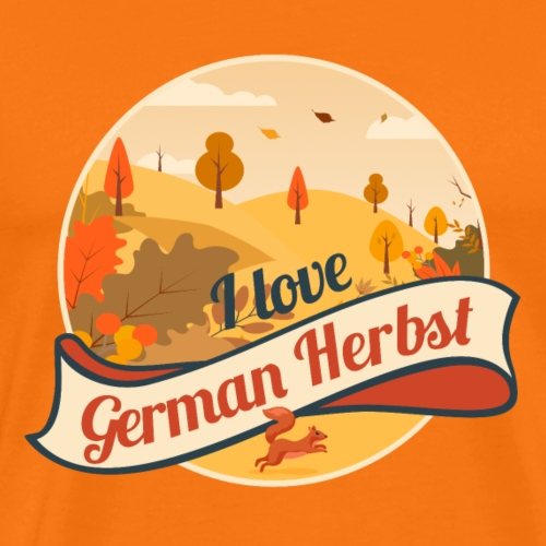 Wandern T-Shirt I love German Herbst