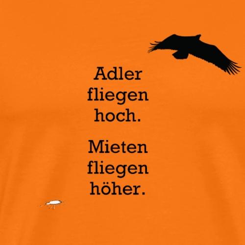Adler fliegen hoch.../ schwarz - Männer Premium T-Shirt