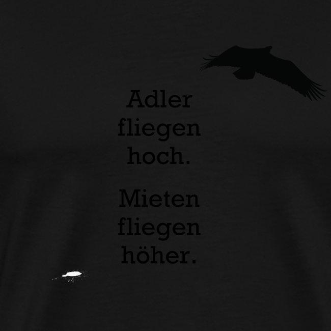 Adler fliegen hoch.../ schwarz