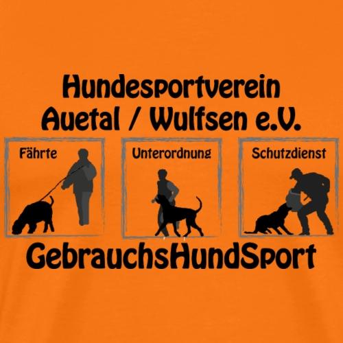 GHS HVA text sw - Männer Premium T-Shirt