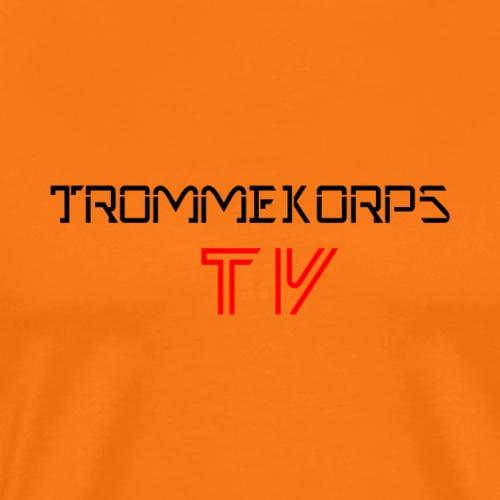 Trommekorps TV Black - Herre premium T-shirt