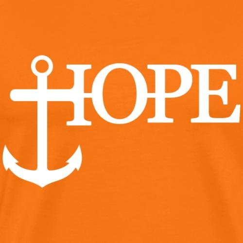 Hope Anker Anchor Hoffnung - Männer Premium T-Shirt