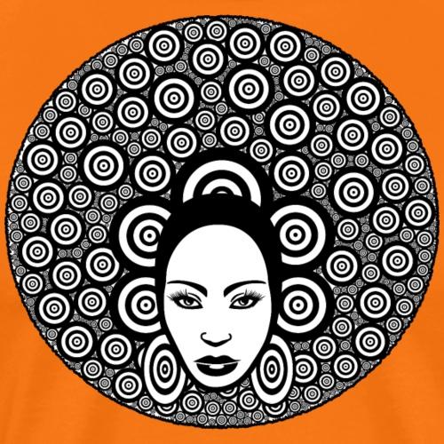 Afro hair woman - Maglietta Premium da uomo