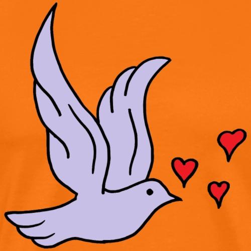 Vogel mit Herz - Männer Premium T-Shirt