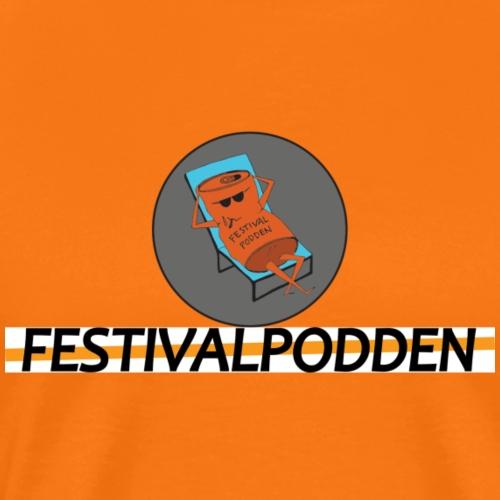 Festivalpodden - Loggorna - Premium-T-shirt herr