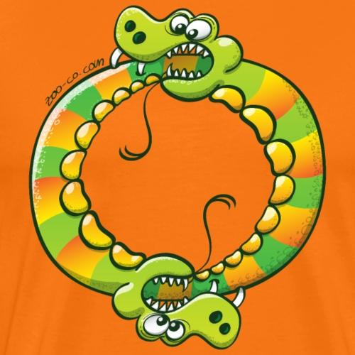 Couple of terrific snakes biting each other - Men's Premium T-Shirt