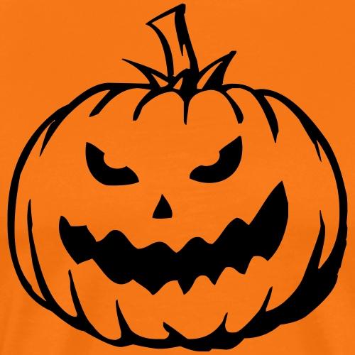 Halloween Pumpkin Kuerbiskopf Mike - Männer Premium T-Shirt